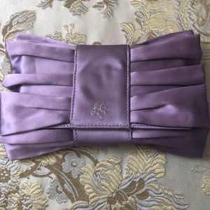 SALE!!  Lulu Guinness lavender satin clutch